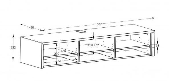 Schnepel S1 LB TV Stand  Potters HomeDigital E Store -> Mesure Table Tv